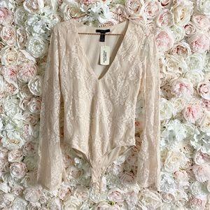 Forever21 Long Sleeve Bodysuit Size M